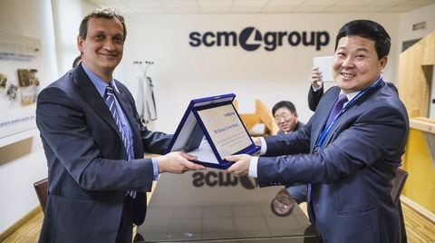 Dalla Cina, visite eccellenti in Scm Group