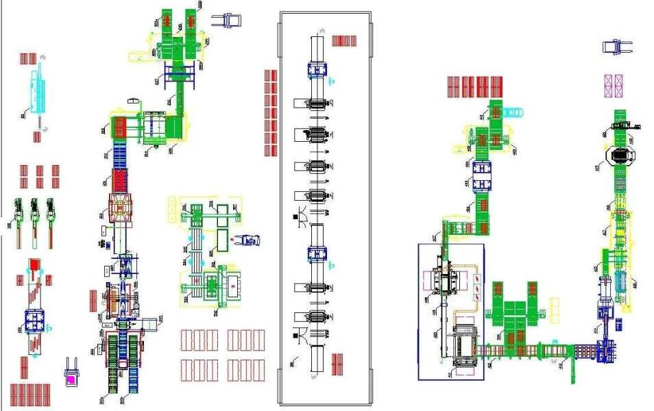 Sistemas de Automatización - Lines for automation systems - plant for 2 layers parquet production