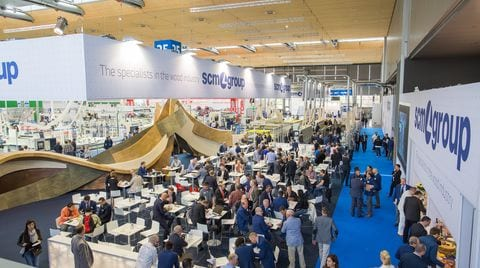 Super start in all 4 Scm Group halls at Ligna 2015!