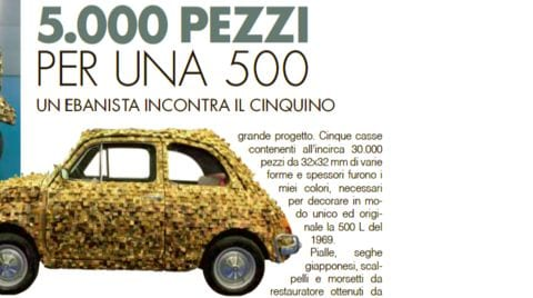 "500Kube featured on the Italian magazine ""4 Piccole Ruote"""