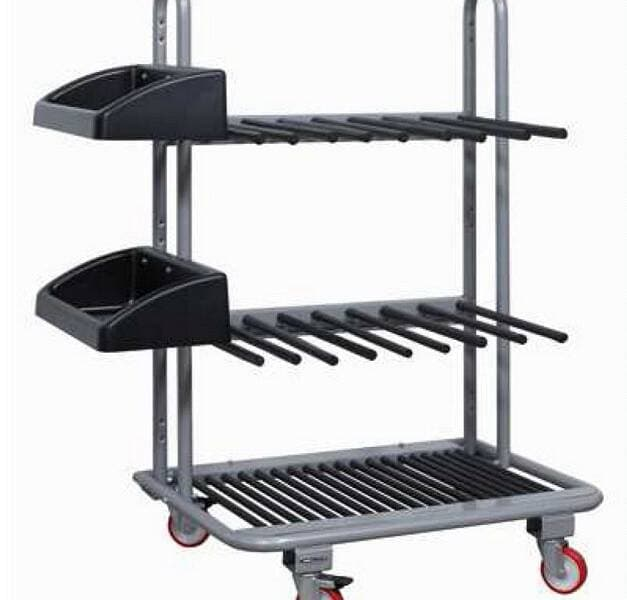 Aluminium Processing - Tables & Trolleys - FOM CARR 200 Aluminium Window Profile Trolley