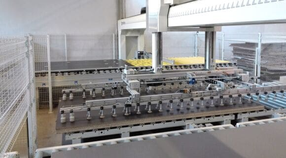 Feeder and Stacker for Big Panels Mahros Carrier - SCM Group