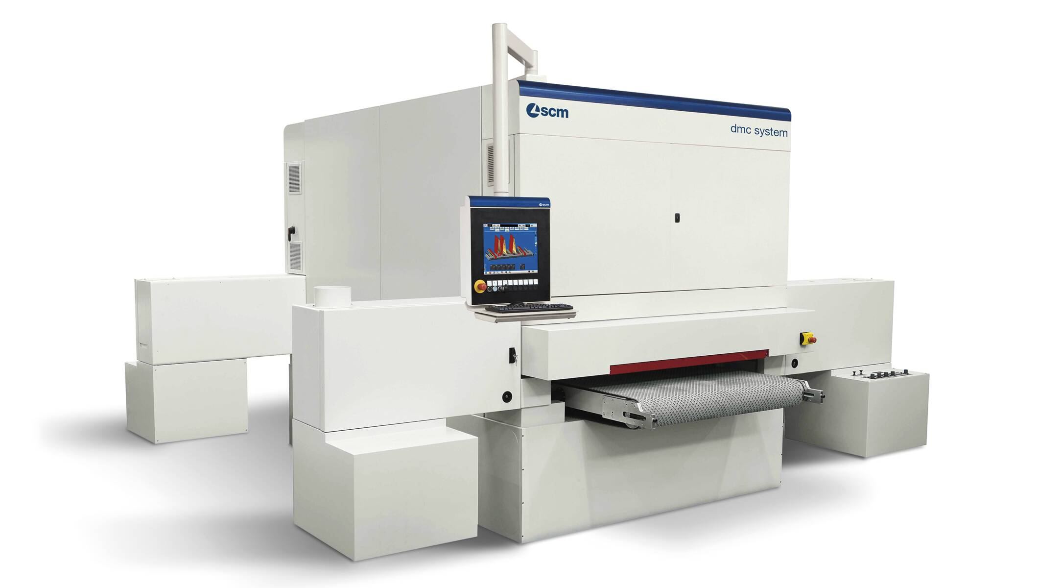 Wide belt sanders - Automatic sanding and calibrating machines - dmc system t5 1350