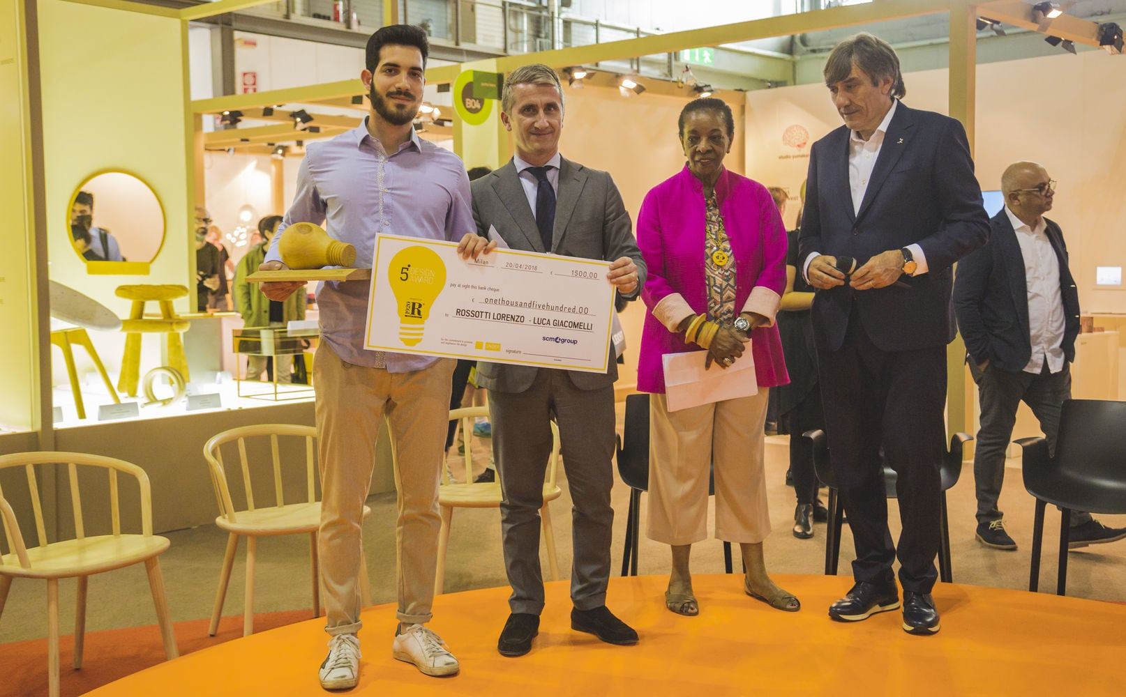 SCM at the Salone del Mobile to award top rising designers