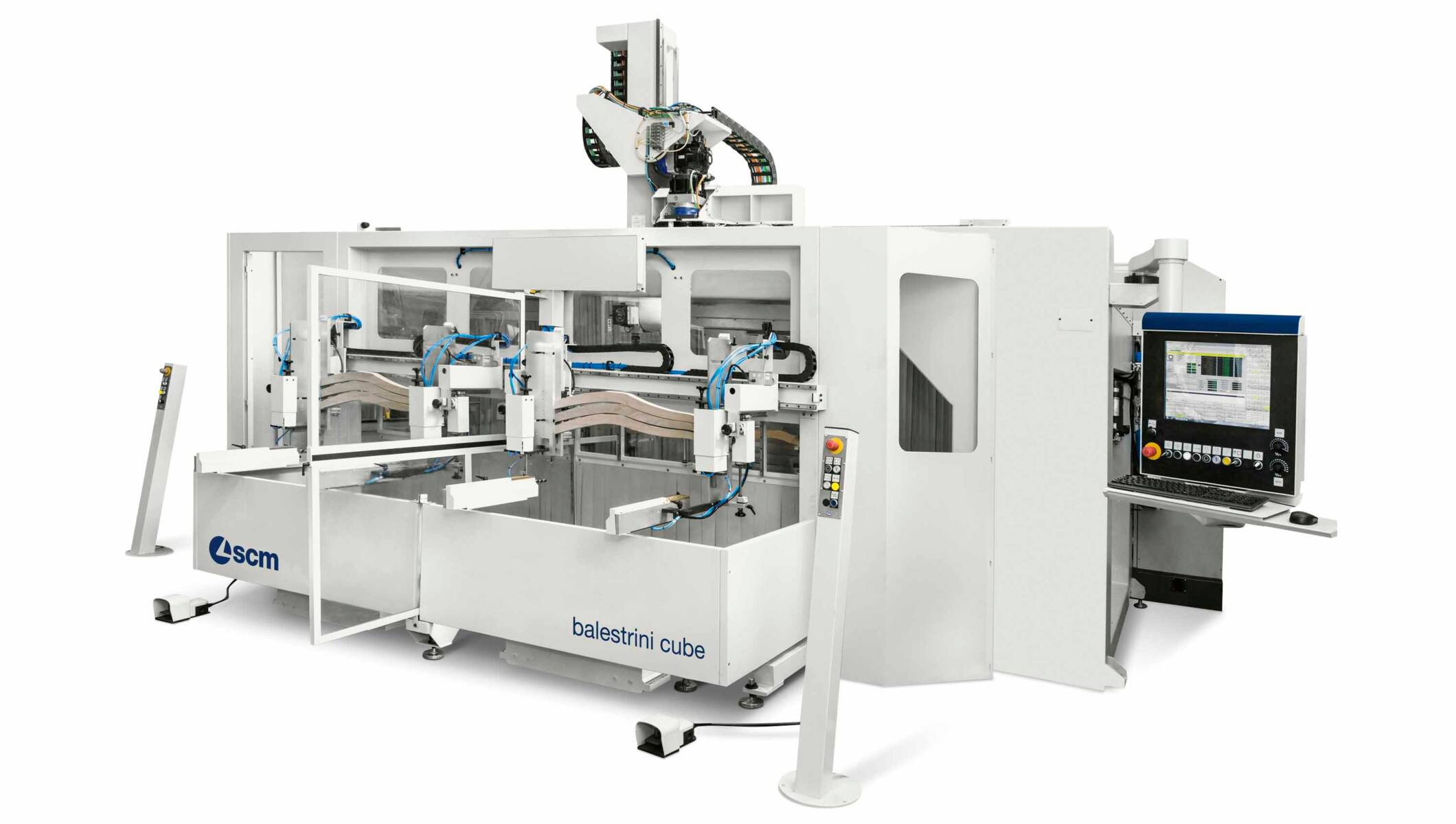 CNC Machining Centres - CNC Machining Centres for solid wood routing and drilling - balestrini cube