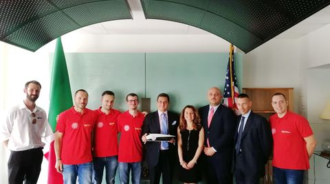 Scm Group and Cms visit the Italian Consulate in Chicago with the Onda Solare team
