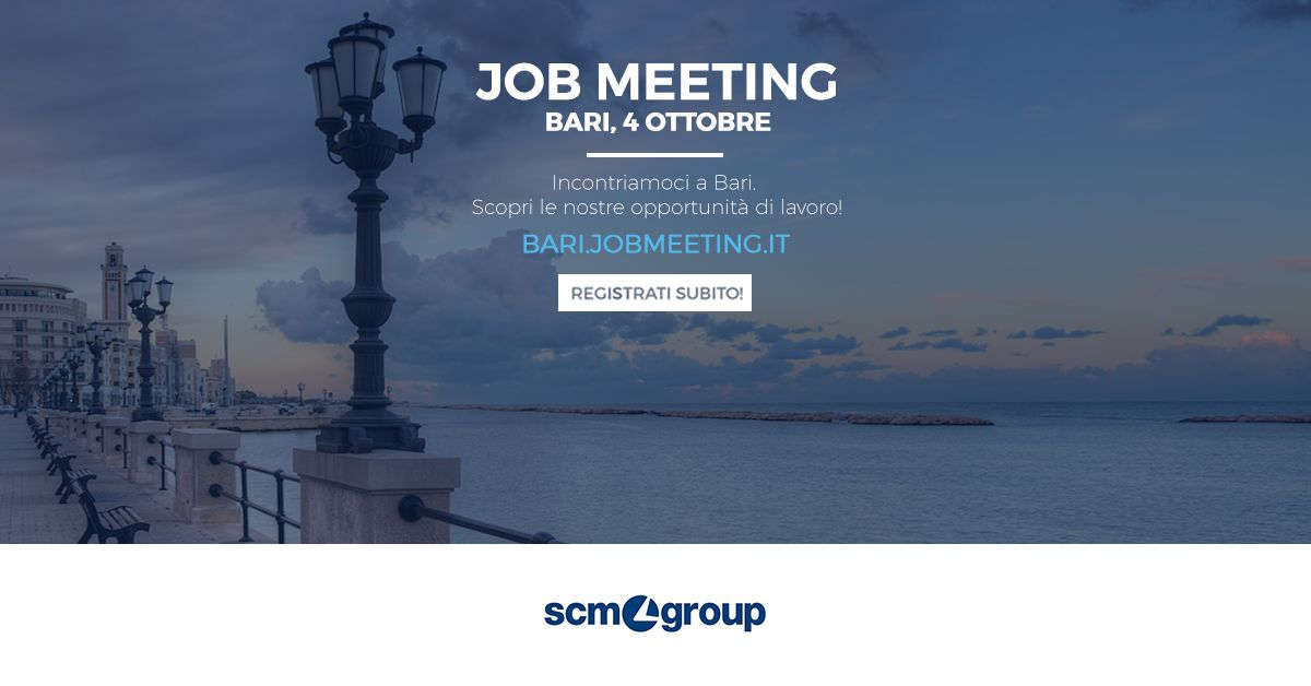 Scm Group a Job Meeting BARI 2018