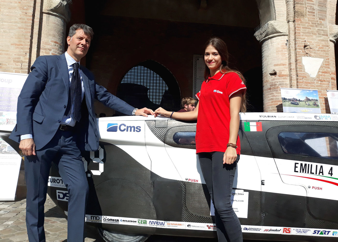 The solar powered car to arrive in Rimini