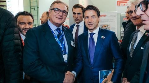 SCM and Acimall welcome Italian Premier Giuseppe Conte at LESDREVMASH 2018