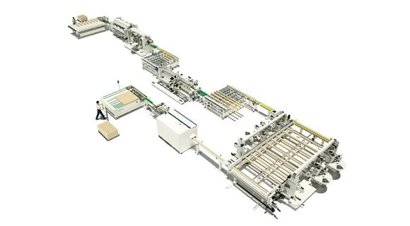 Production Line Doors and Window Frames System - SCM Group