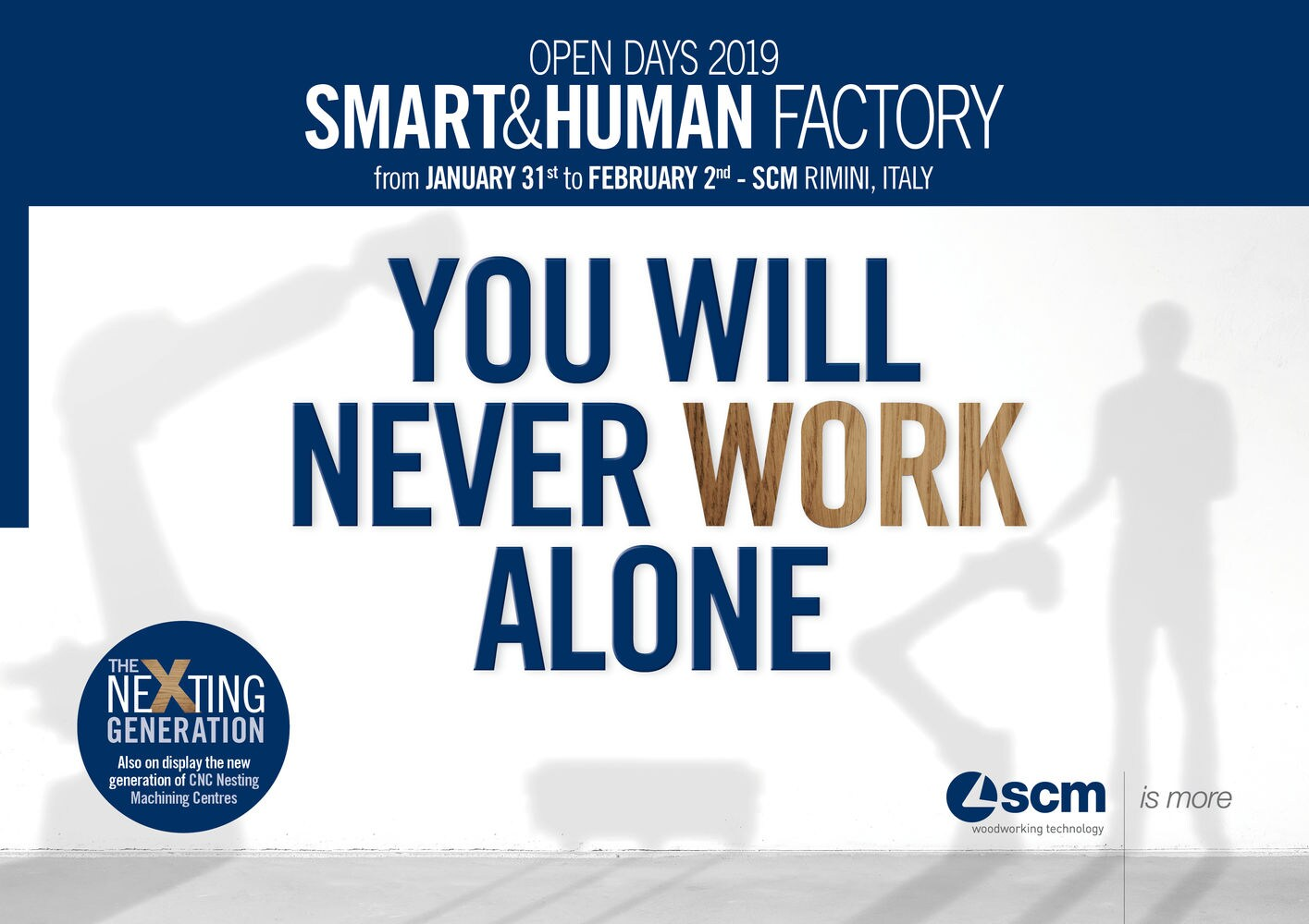 "There's great anticipation surrounding the ""Smart&Human Factory"" made in SCM"