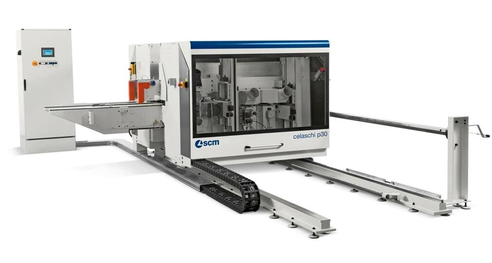 Profiling machines and double-end tenoners - Double-sided squaring and tenoning machines - celaschi p30