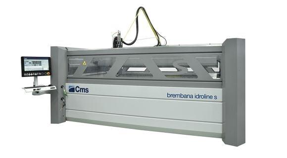 brembana idroline S - hydro abrasive Waterjet cutting system - CMS Glass