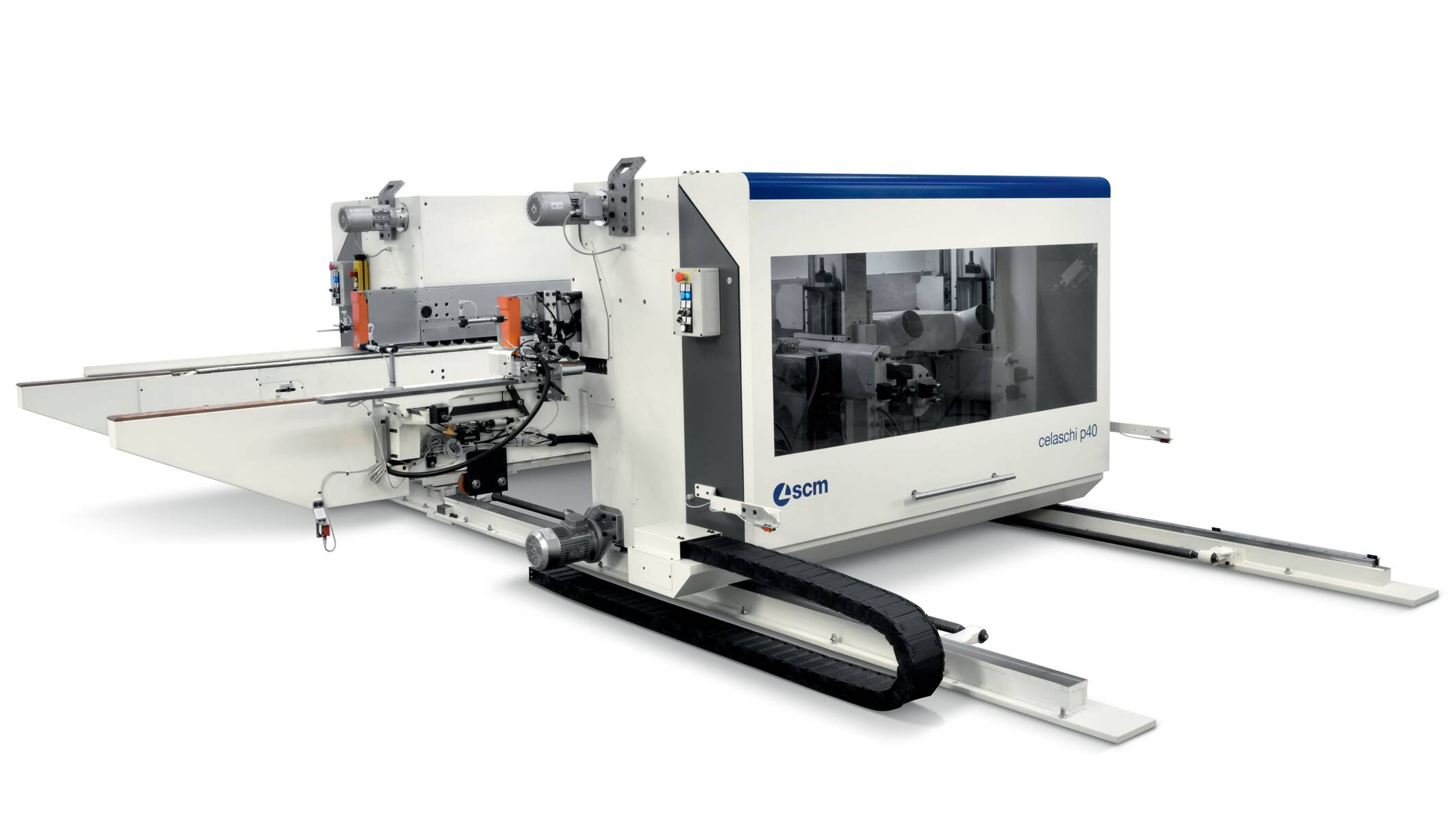 Profiling machines and double-end tenoners - Double-sided squaring and tenoning machines - celaschi p40