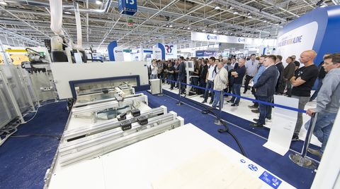 Diary at Ligna. After the Sales Meeting, SCM is ready to demonstrate all the latest in woodworking