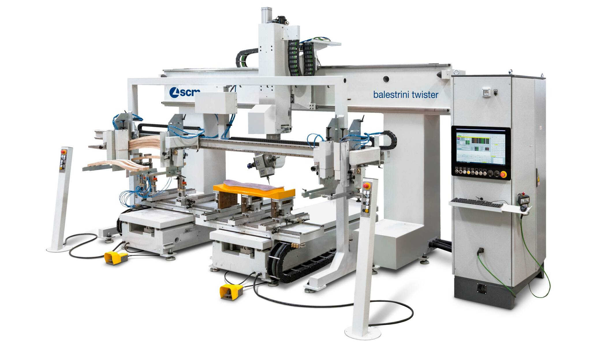CNC Machining Centres - CNC Machining Centres for solid wood routing and drilling - balestrini twister