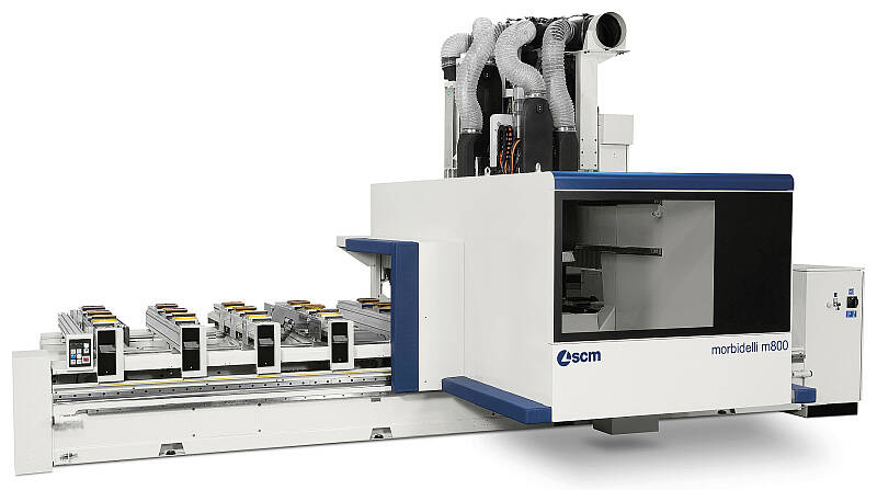 CNC Machining Centres - CNC Machining Centres for drilling and routing - morbidelli m600/800