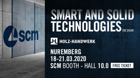 SCM at Holz-Handwerk with integrated process solutions for all woodworking requirements