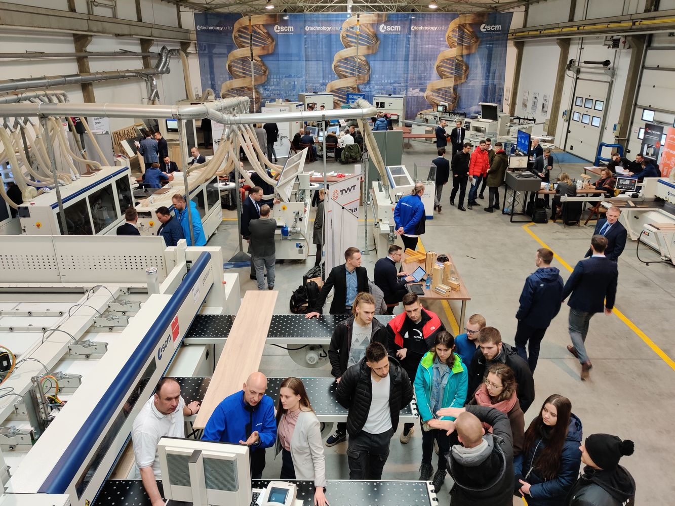 All the creativity of technologies for wood at SCM Poland's open house