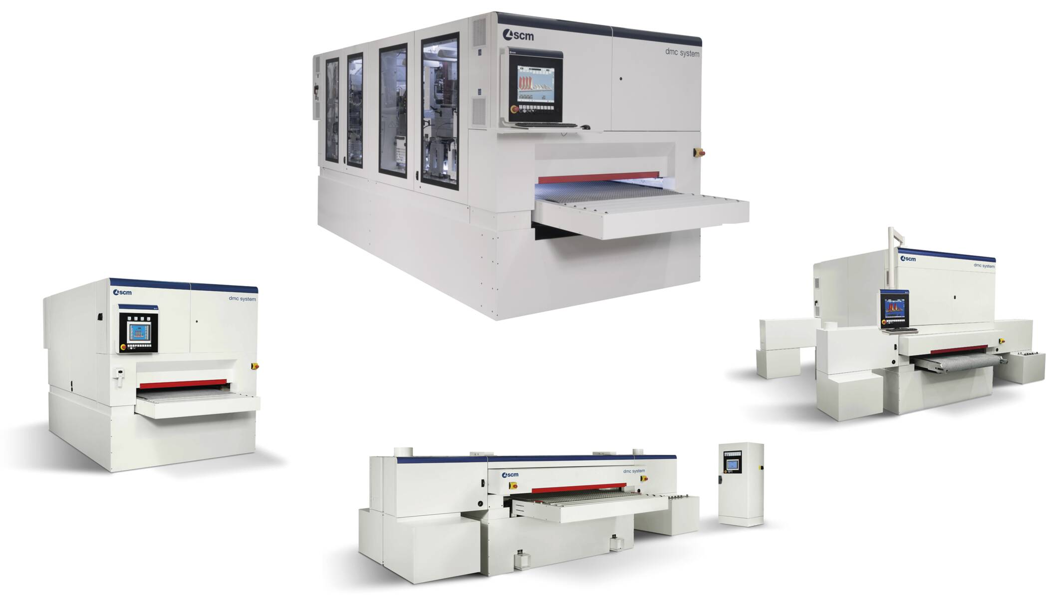 Wide belt sanders - Automatic sanding and calibrating machines - dmc system t